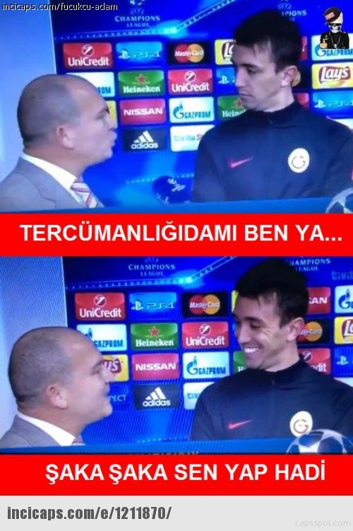 Atletico Madrid - Galatasaray maçı capsleri