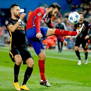 Atletico Madrid-Galatasaray maçından kareler