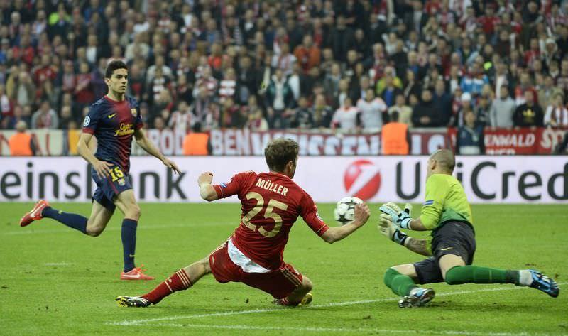 Bayern Münih-Barcelona maçından kareler