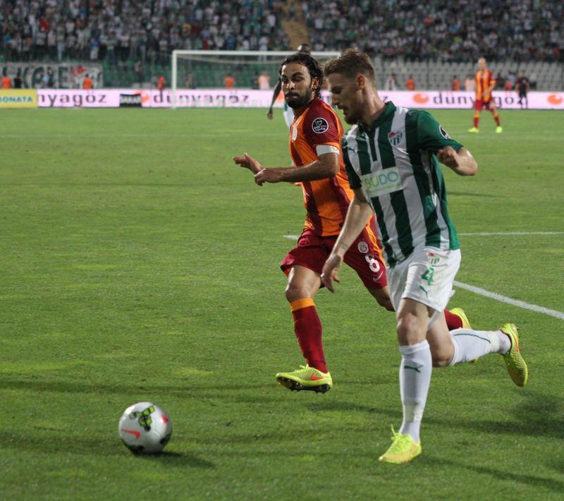 Bursaspor - Galatasaray ma��n�n foto�raflar�
