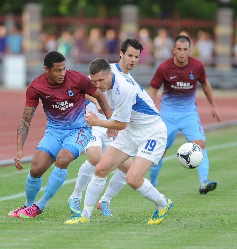 Dinamo Minsk-Trabzonspor maçından kareler