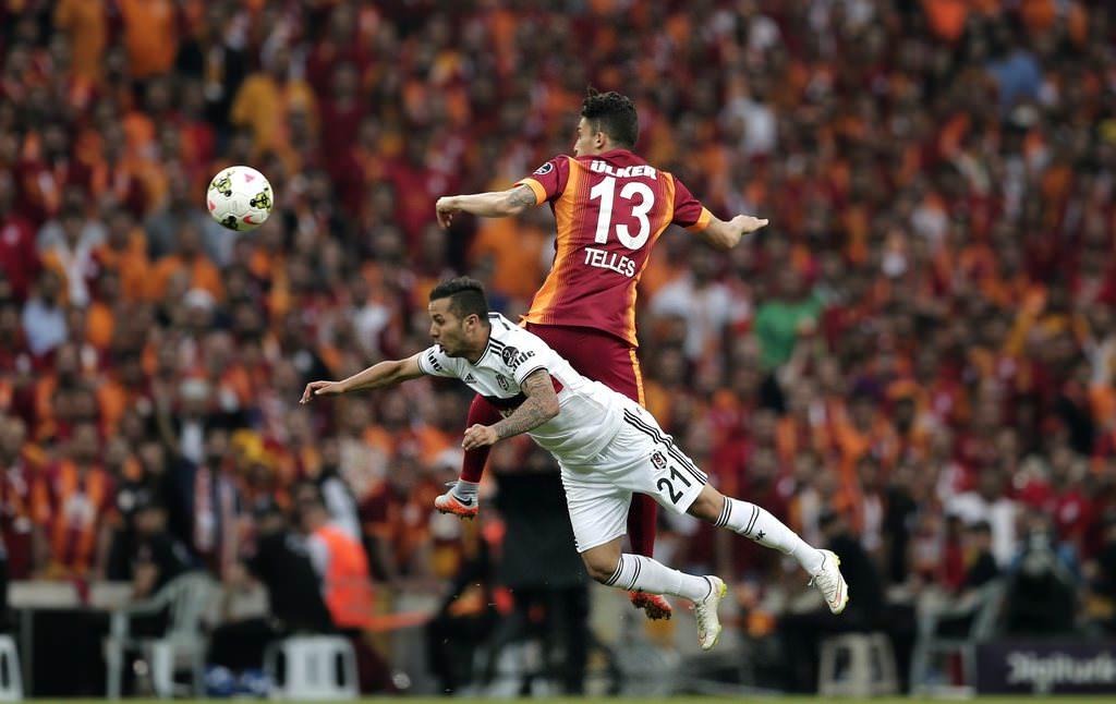 Galatasaray - Beşiktaş derbisinden kareler