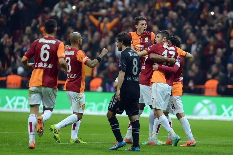 Galatasaray - Beşiktaş maçından kareler
