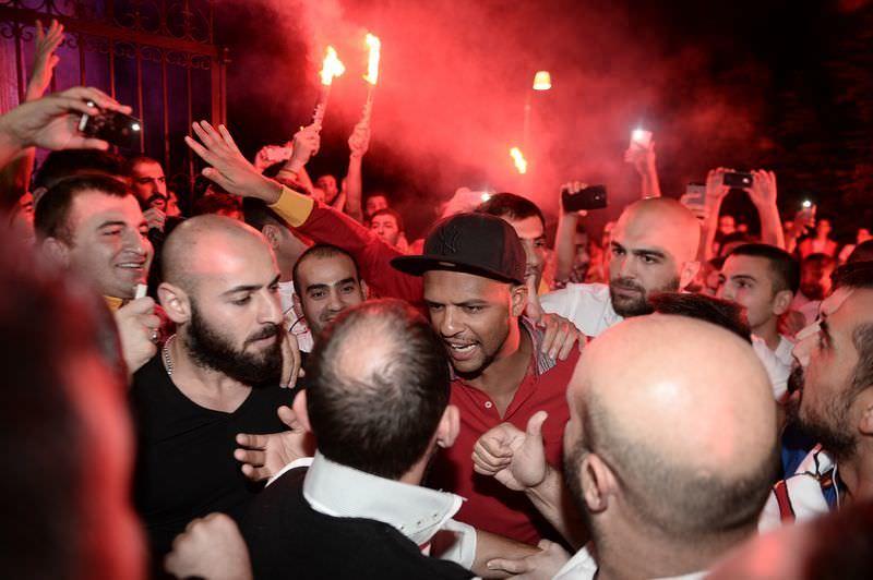 Galatasaraylı taraftarlardan Melo'ya destek