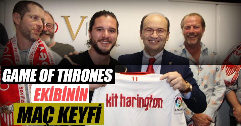 Game of Thrones ekibinin maç keyfi