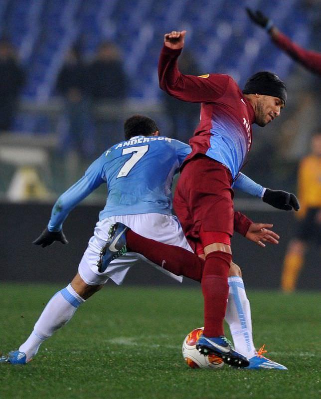 Lazio - Trabzonspor maçından kareler