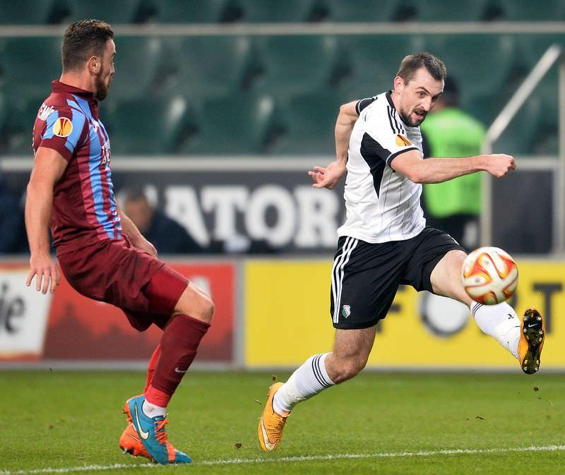 Legia Varşova - Trabzonspor maçının fotoğrafları