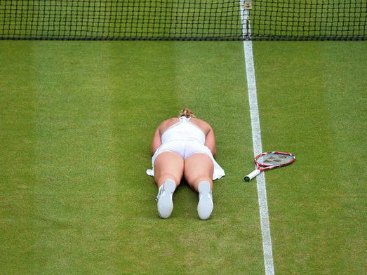 Serena Williams'ı yenince kendinden geçti
