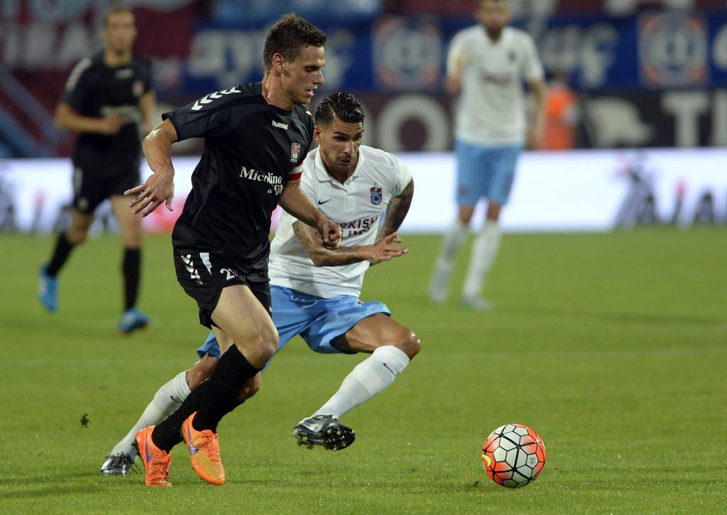Trabzonspor - Differdange maçından kareler