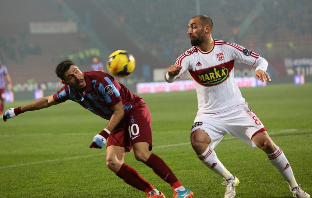 Trabzonspor - Sivasspor maçının fotoğrafları