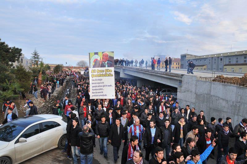 Trabzonspor taraftarından şike protestosu
