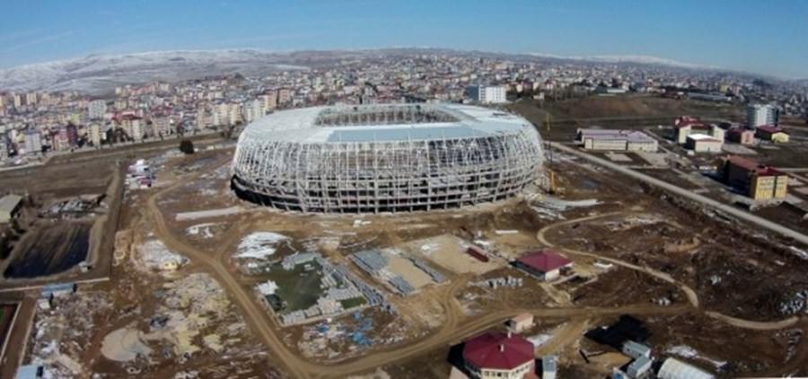 Türkiye'nin ilk ekolojik stadının kaba inşaatı bitti