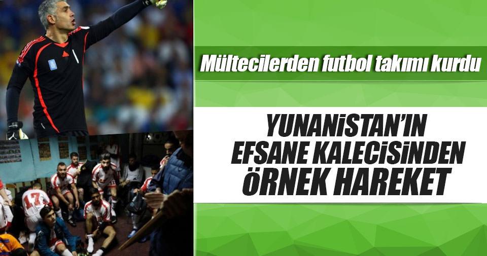 Yunanistan'ın efsane kalecisi mültecilerden futbol takımı kurdu