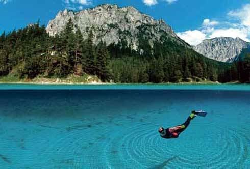 gruenersee d Kışın park yazın göl!