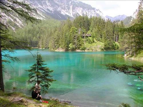 gruner see d Kışın park yazın göl!