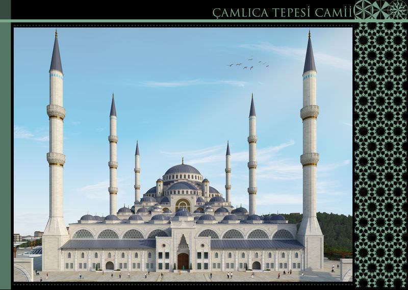 Çamlıca Camii ilk kez görüntülendi