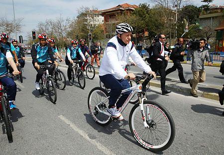 Cumhurbaşkanı pedal çevirdi