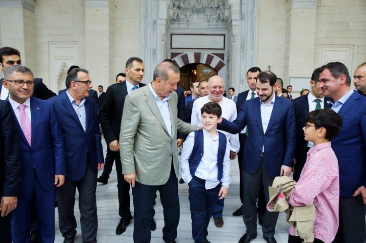 Cumhurbaşkanı vatandaşlarla bayramlaştı