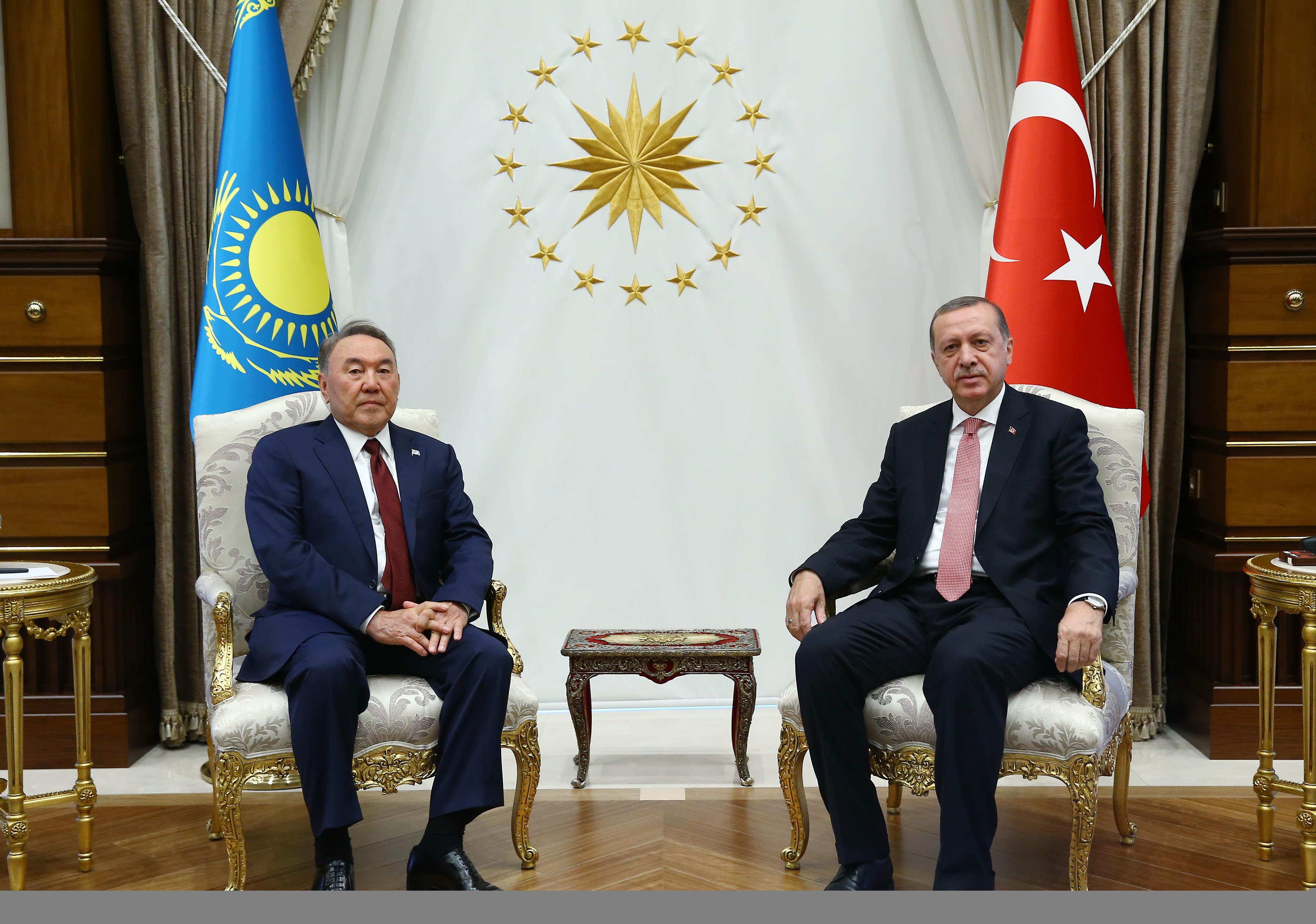 Kazakistan Cumhurbaşkanı Nursultan Nazarbayev Ankara'da