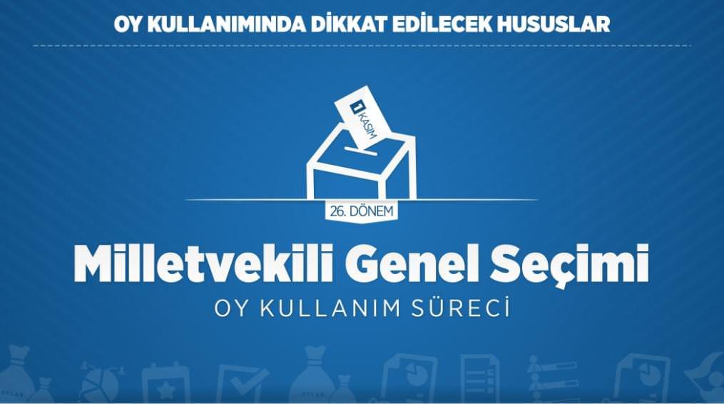 Oy kullanmada dikkat edilecek hususlar