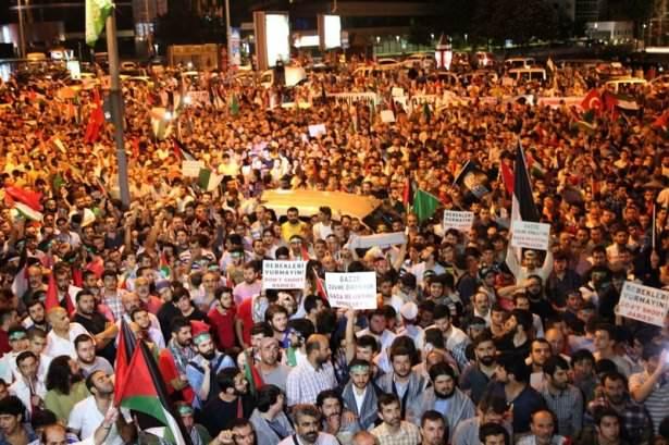 Türkiye Gazze için yürüdü
