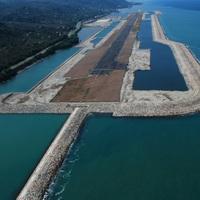 T�rkiye'nin denize yap�lan ilk havaliman� havadan g�r�nt�lendi