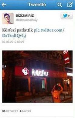 Vandalların delil tweetleri