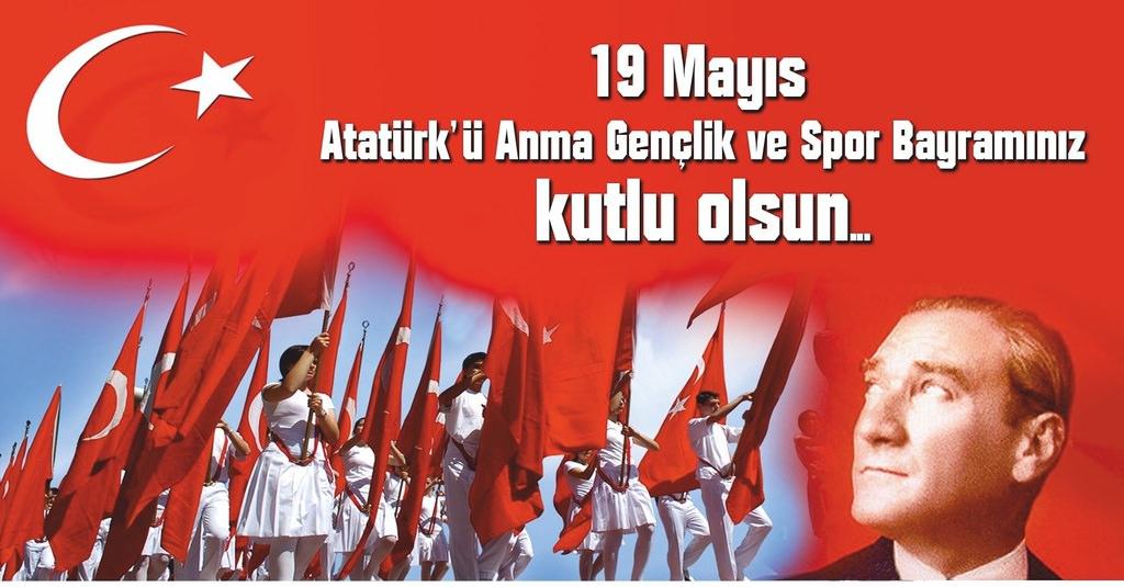19 Mayıs Atatürk'ü Anma Gençlik ve Spor Bayramımız Kutlu Olsun YEŞİL KIRMIZI EKİBİ
