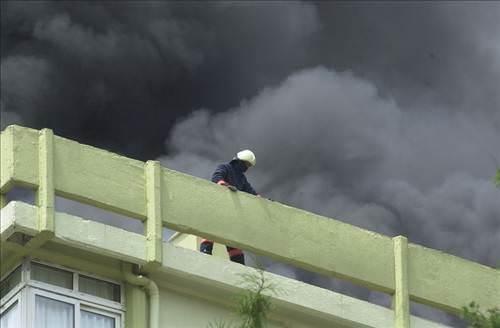 Ataköy'de korkutan yangın