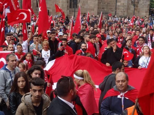 Avrupa'da terör protestosu