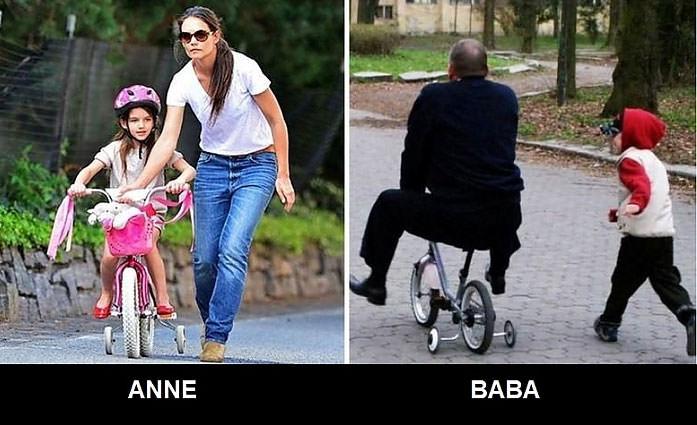 Babalarına bırakılan çocuklar