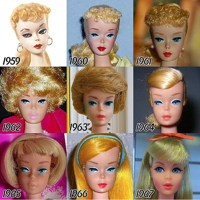 Barbie'nin evrimi