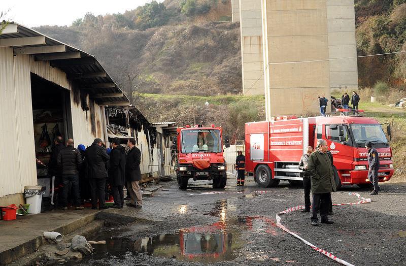 Beykoz sosyete pazarında yangın