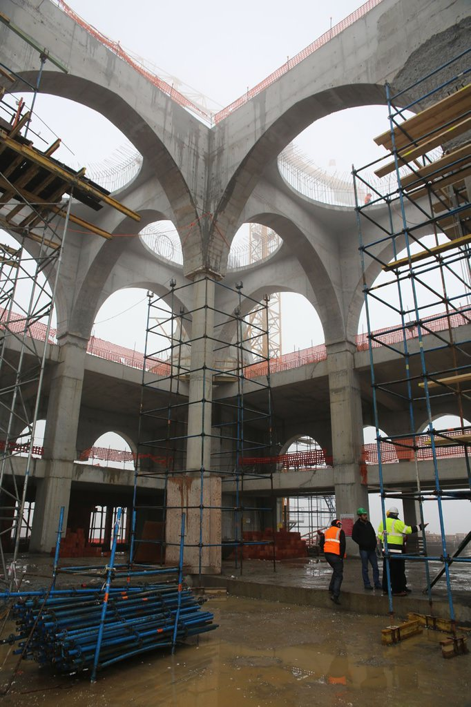Çamlıca Camii inşaatında sona yaklaşıldı