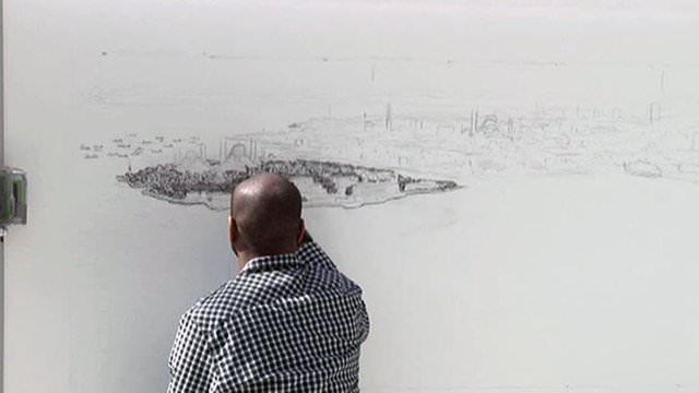 Dahi çocuk İstanbul'u çiziyor!