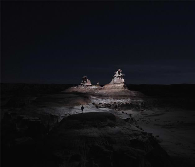 Drone ile çekilmiş gece fotoğrafları