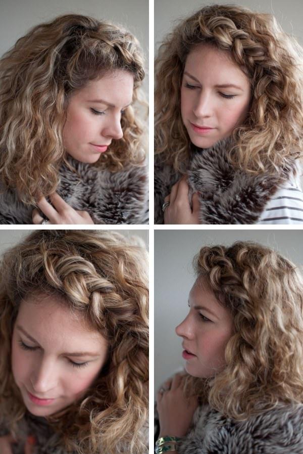 Прическа из кудрявых волос
