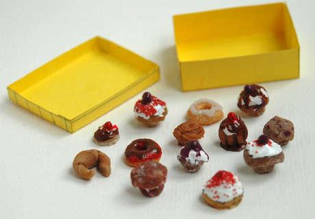 Gerçeğinden farksız minyatür yiyecekler