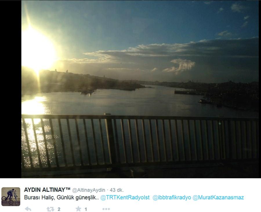 İstanbul'da hem kar hem güneş