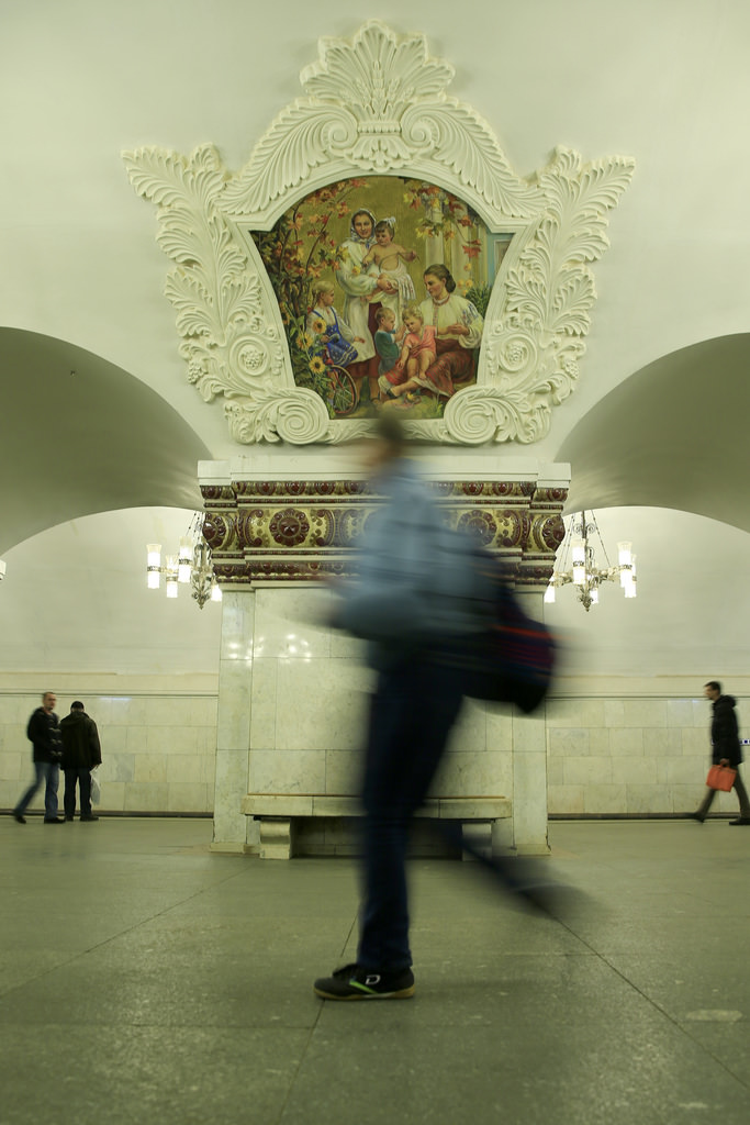 Moskova'nın metrelerce altındaki saray