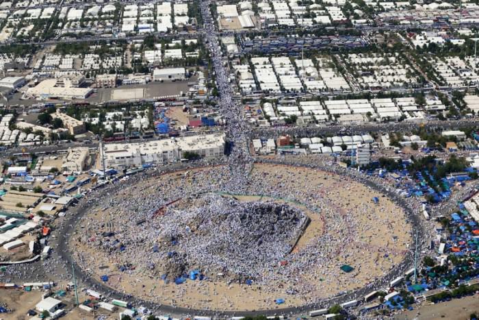 Müslümanların Arafat heyecanı görüntülendi