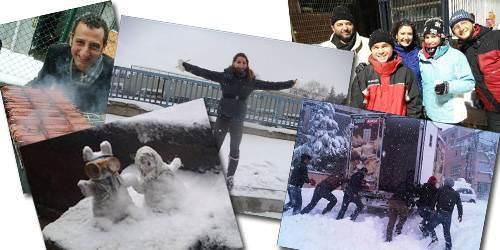 Sizden gelen kar fotoğrafları