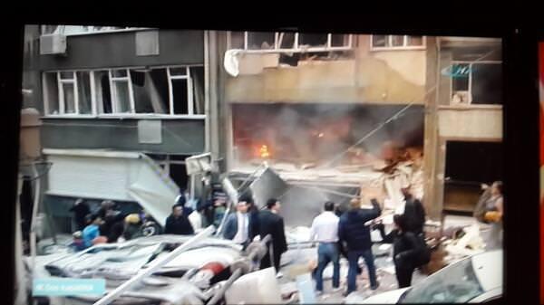 Taksim'de şiddetli patlama