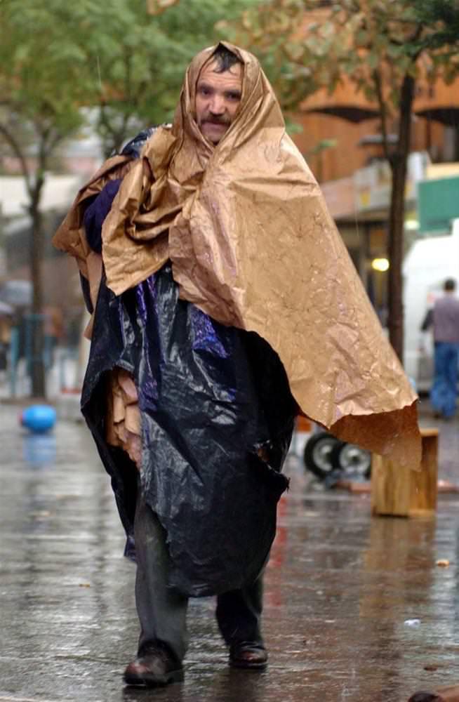 Yağmura yakalanan yurdum insanı