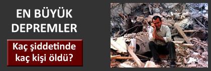 Son yüzyılın en büyük depremleri