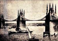 1900'deki k�pr� projesinde rayl� sistem de vard�