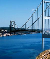 Çanakkale Boğaz Köprüsü Sarıçay-Kilitbahir arasında