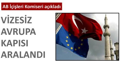 Avrupaya kolay vize için büyük adım