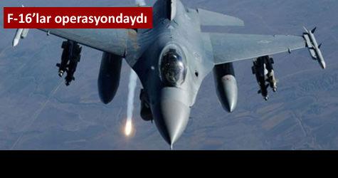 F-16lar PKK yuvalarına bomba yağdırdı