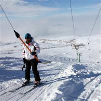 Hazar Baba'da kayak keyfi